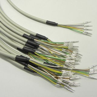 Round cables with heatshrink