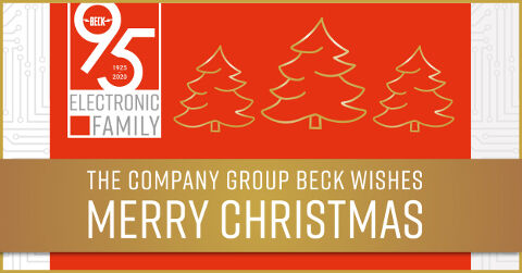 The company group BECK wishes Merry Christmas