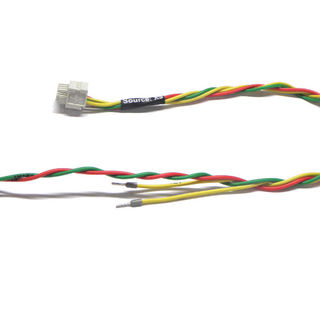 Drilled wires with heatshrink and connector